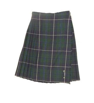 Green Tartan All Wool Kilt in UK size 16