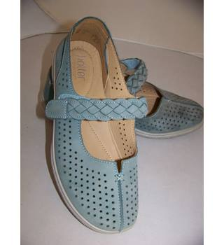 Hotter - Size: 6 - Blue - Flat shoes