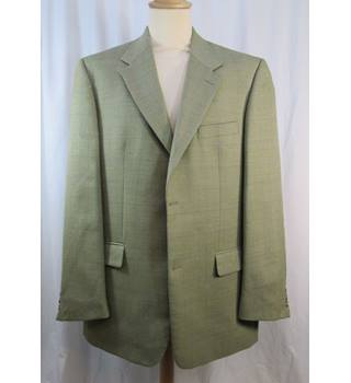 "Gurteen - Size: 44"" chest - Light Green Check - Wool mix Jacket"