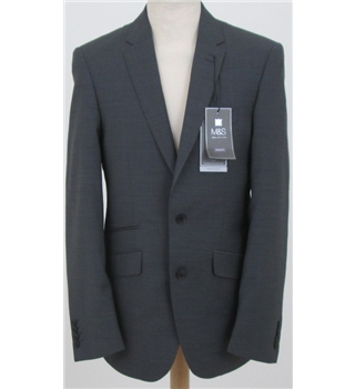 "NWOT M&S Collection size 38"" smart corporate grey blazer"