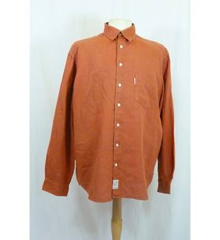 Long Sleeved Orange Linen Shirt from Marc O'Polo in an XL size