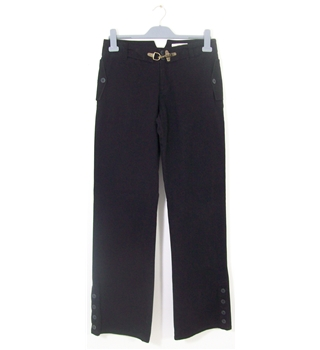 "Thomas Burberry 1835 Size 40""/34"" Black Bootcut Trousers"