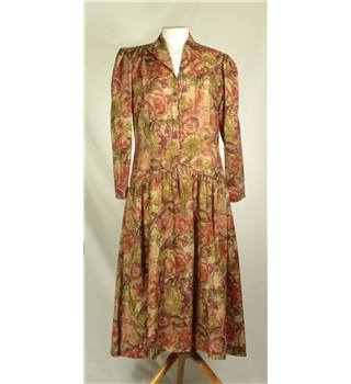 Corner Shop, size L autumn coloured floral print dress
