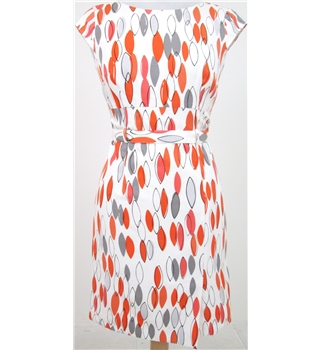 BNWT: Jesire Size 4: Cream multi-coloured sleeveless dress