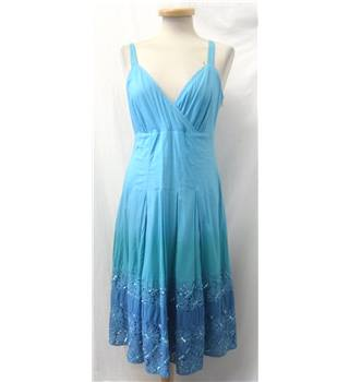 Per Una, size 12 shades of blue mix dress