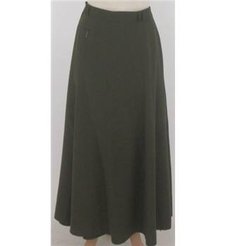 Basler size: 16 olive green wool mix A-line skirt