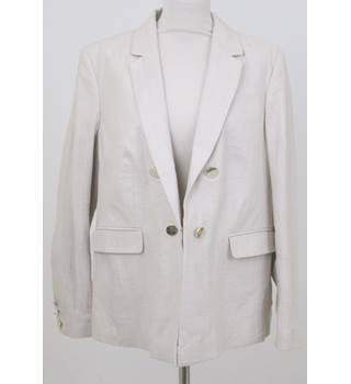 NWOT Per Una size 18 cream double breasted jacket