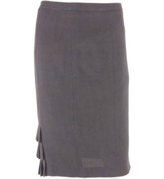 Jigsaw Size 12 Charcoal Grey Formal Pencil Skirt