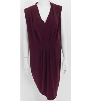 M&S Collection Size 16 Burgundy Dress