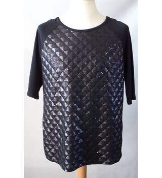 Marbella Size: L Black Short sleeved shirt