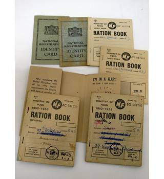 Ration Books and Identity Cards, Post World War 2, in Ration Book Holder