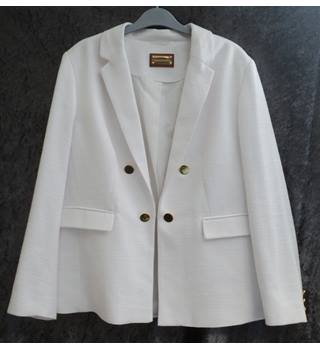 M&S Marks & Spencer - Size: 14 - White - Smart jacket / coat