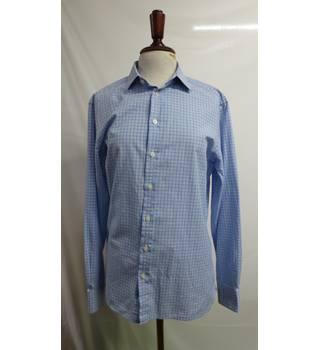 Jaeger Mans shirt Blue check Size 15.5 collar Jaeger - Size: S - Blue - Long sleeved