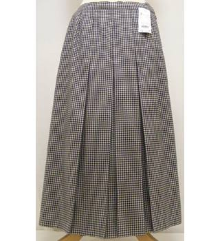Vintage_Aquascutum - Size: 10 - blue/green and cream- Pleated skirt