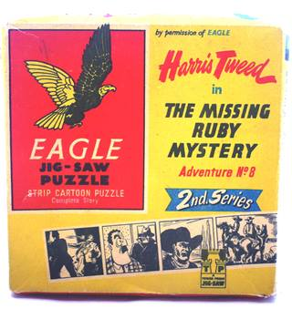 Eagle Jigsaw Puzzle Harris Tweed in The Missing Ruby Mystery Adventure No.8 2nd. Series