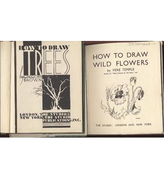 How to draw wild flowers and How to draw trees Studio editions (2 books)