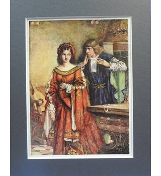 "Vintage Mounted Print: ""My Lord, I thank you for your entertainment"""