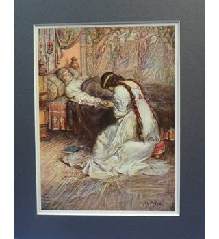 "Vintage Mounted Print: ""He felt her tears upon her hands"""