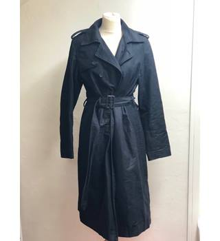 Laura Clement Collection Black Trench Coat in size 12