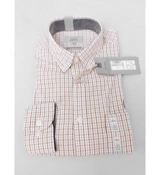NWOT M&S Collection Size S Toffee Checked Shirt