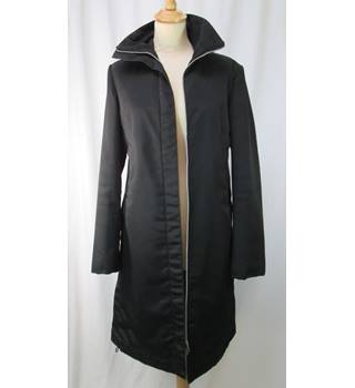H&M - Size: 10 - Black - Smart Zipped Raincoat