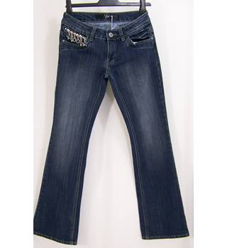 Jean Jeanie - Size: 10 - Blue - Jeans with zip pull detail