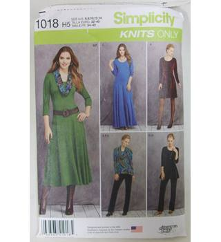 "Simplicity Pattern 1018 in Sizes 32 - 40"" Knits Only"