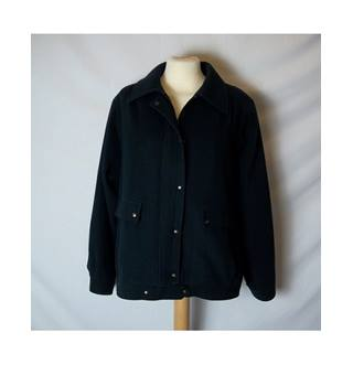 Women's Designer Navy Wool Coat by- Windsmoor - Size: 12 - Blue