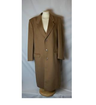 Men's Cashmere & Wool Long Coat by Coles of London Coles of London - Size: M - Brown