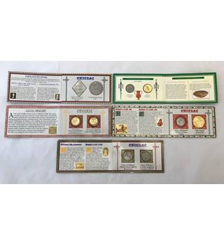 British History Reproduction Coins by Westair 5 Sets