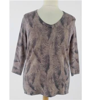 Ghost Size XL Camel and Brown V Neck Top