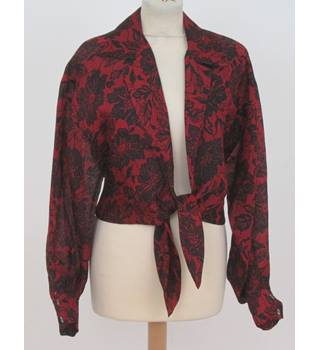 Perry Ellis size: S red/black silk blouse