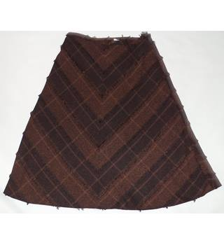 Roman Originals size 14 brown calf length skirt
