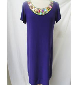 Ronni Nicole - Size: 12 - Purple - Knee length dress with beading