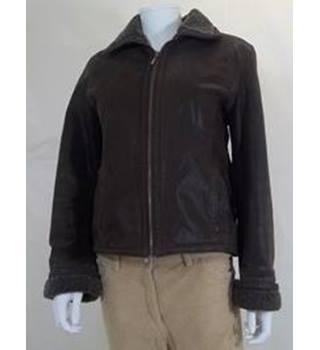 Hugo Buscati - Size: M - Brown - Leather Jacket