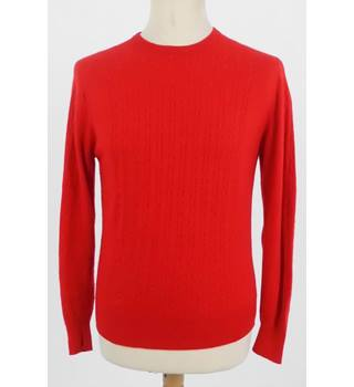Lyle and Scott Size L Starlet Red Cashmere Jumper