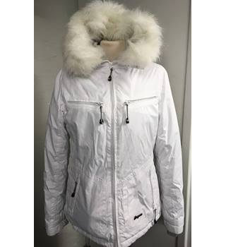 Tresspass White Waterproof Jacket Tresspass - Size: M - White - Hiking jacket