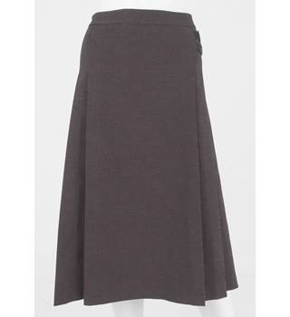 BNWT Country Casuals Size 20 Tweed Look Brown and Black A line Calf Length Skirt