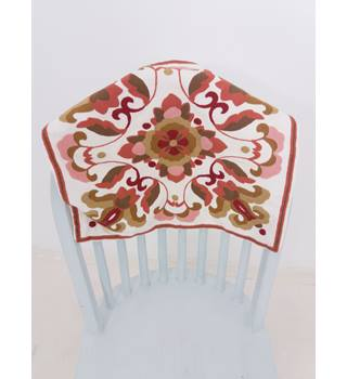 Dunelm Machine Stitched Multi-Coloured Flower Cushion Cover