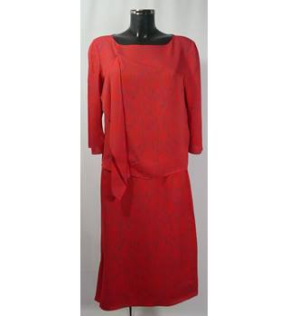M&S Autograph - Two piece silk set - Size 14 - Red dress