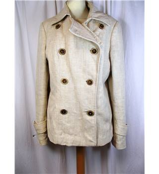 Per Una size 12 cream with subtle chevron pattern jacket