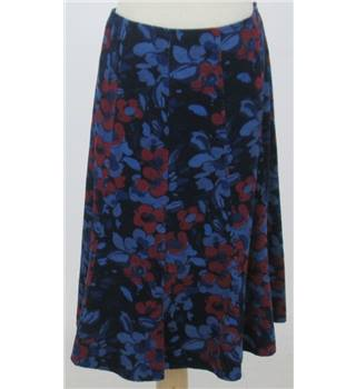 M&S Marks & Spencer - Size: 14 - Blue & red floral - A-line skirt