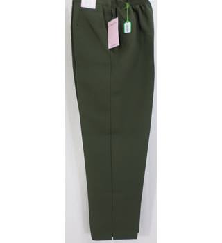 Amalina - Size:16 Length 29in - Olive Green - Trousers