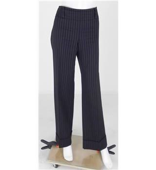 Armani Collezioni Size 16 Black Pin Stripe Trousers