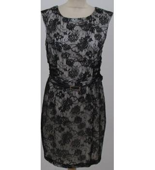 BNWT Mango - Size: 12 - Black and white lace dress