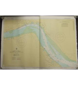 Vintage Nautical Chart no. 3497 River Humber; 1974