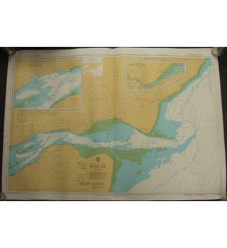 Vintage Nautical Chart no. 1481 River Tay to Perth; 1984