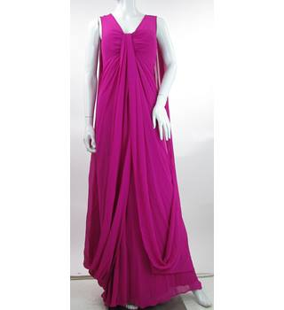 Ted Baker - Size: 8 - Hot Pink - Cape Maxi Dress