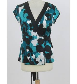 BNWT Monsoon size: 12 turquoise green patterned wraparound top