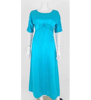 Vintage 70's/80's - Edward Beach of Nottingham - Size: 10 - Blue/ Green - Evening / Prom Dress